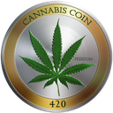 Logo der Kryptowährung CannabisCoin CANN