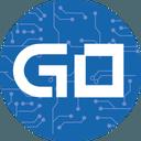 Logo der Kryptowährung GoByte GBX